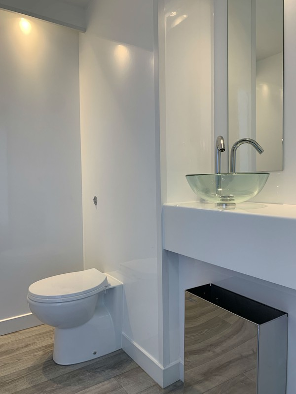 White 1+1 toilet trailer for sale