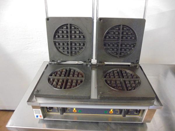 Roller Grill Heavy Duty Double Waffle Maker