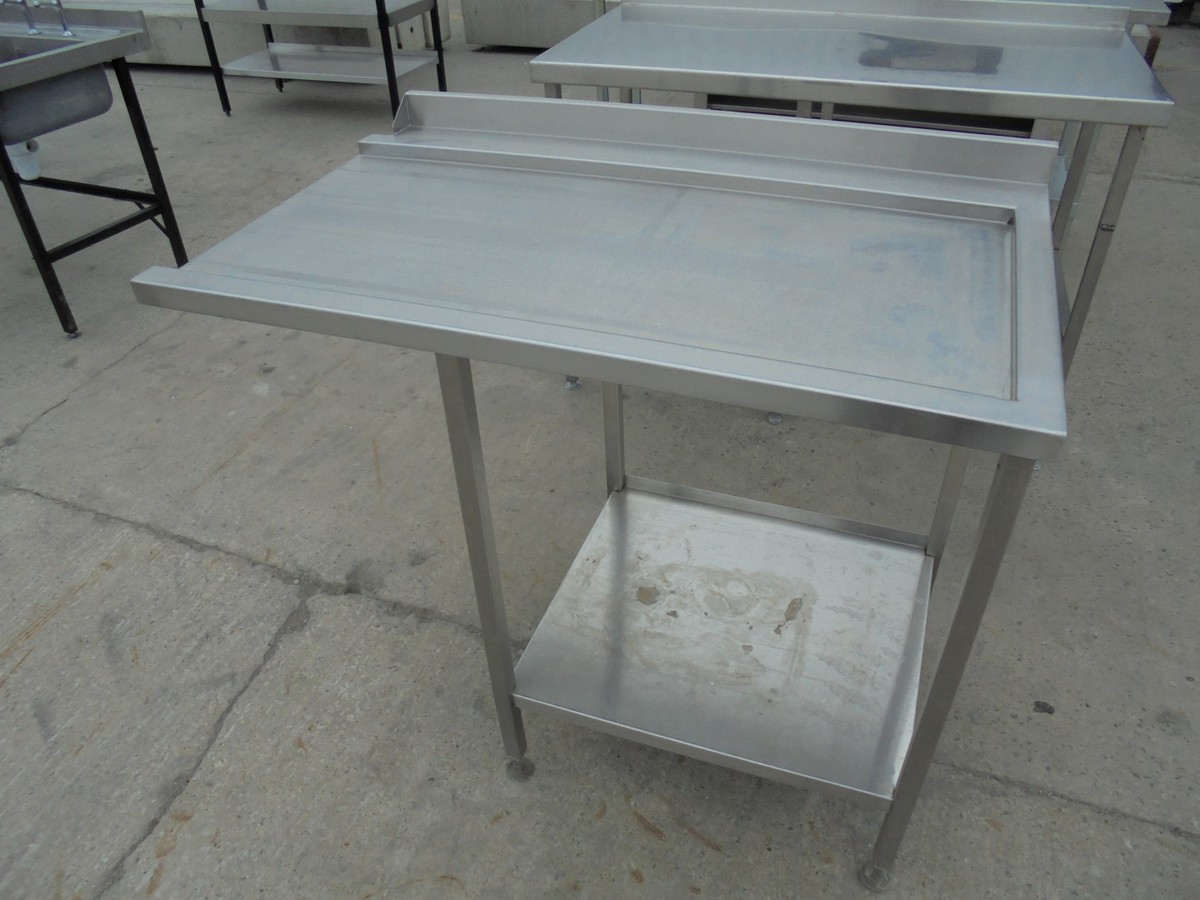 Secondhand Catering Equipment Stainless Steel Tables M - Stainless steel dishwasher table