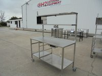 Used Chef's table with shelf
