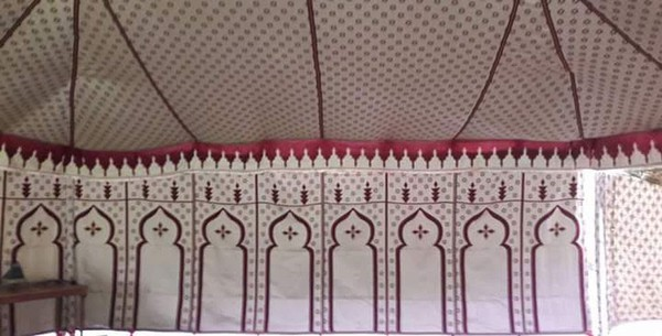 Moroccan Party Marquee red and white ling