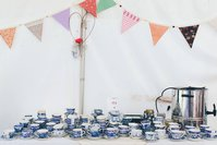 Bulk Lot Blue & White Vintage Crockery, Cutlery, Cake Stands, Teacups, etc