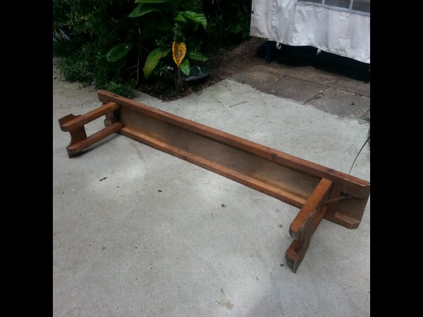 Wooden Bench With Fold Able Legs