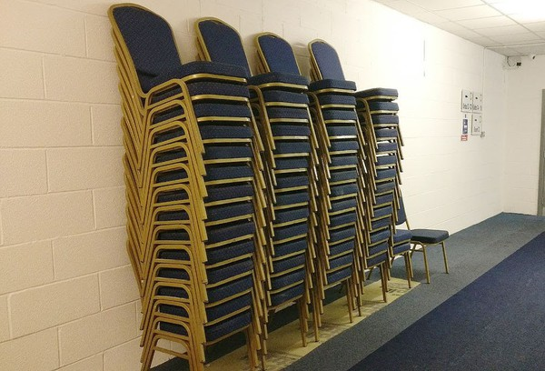 Stackable steel chairs for sale