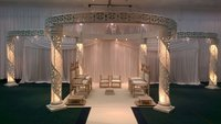 Full 6 Pillar Zali Crystal Mandap