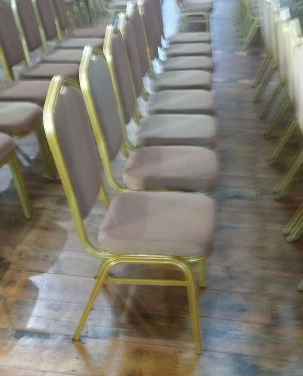 Gold Banqueting Aluminium Chairs