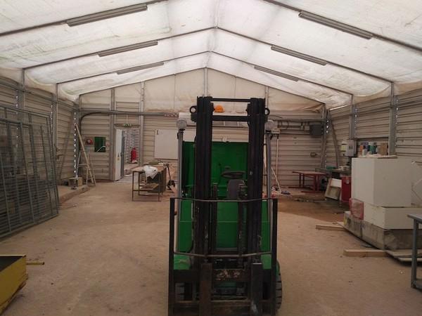 Used temporary warehouse