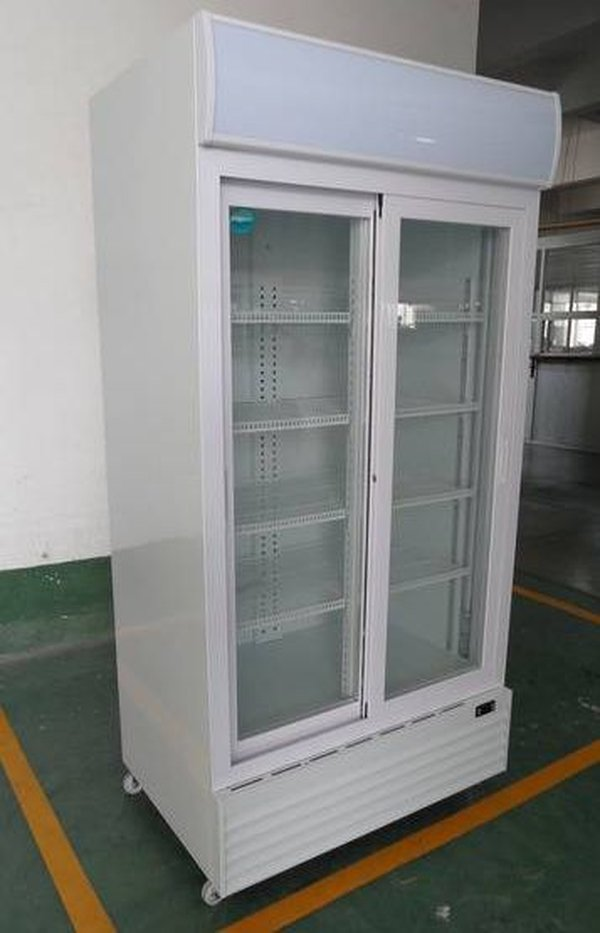 3x Jumbo 1mt Wide Double Glass Door Display Coolers