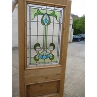 Victorian Glass stained door for sale