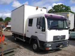 Man 8.150 Crew Cab Box Van Direct Mod / Army 2006