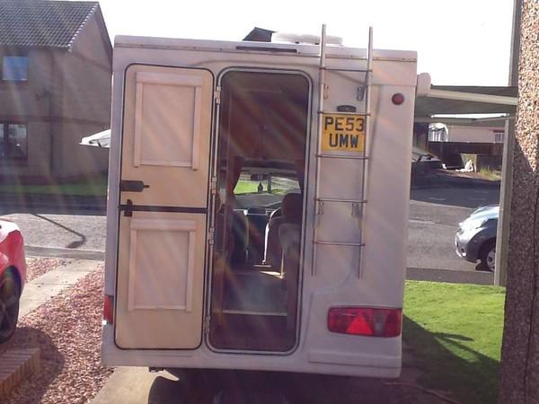 2 birth rear door motor-home