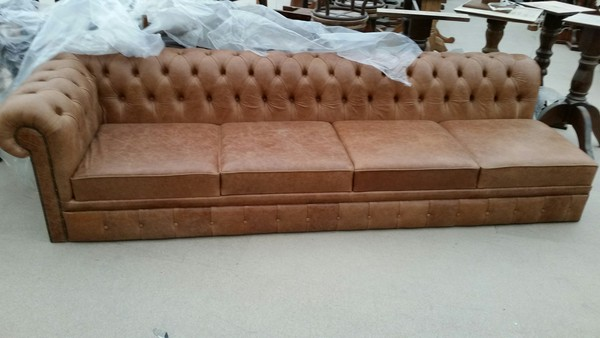 Leather pub sofa