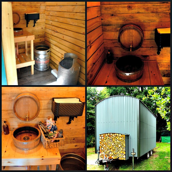 Secondhand Shepard's hut toilet trailer