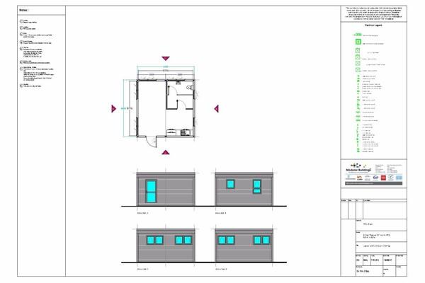 Modular Office, Canteen Building 6.2m x 6.2m