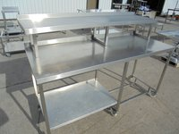 Steel table with shelf for sale