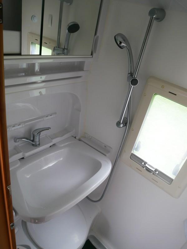 Fold down sink