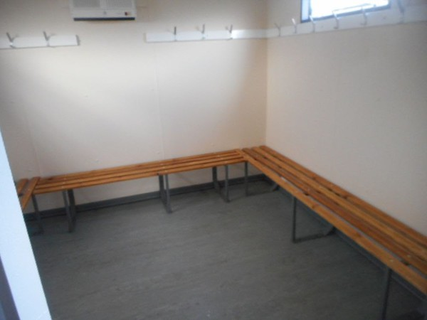 Portable sports club cabin changing rooms