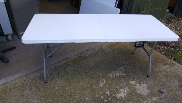 Folding trestle table for sale