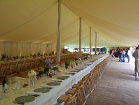 Traditional marquee flat lining