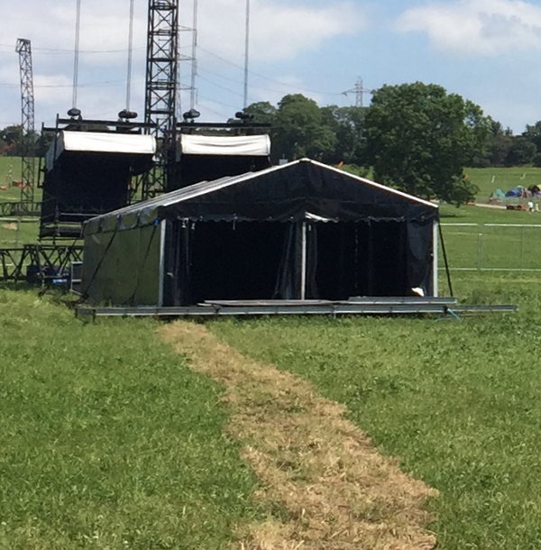 FOH sound mixing marquee