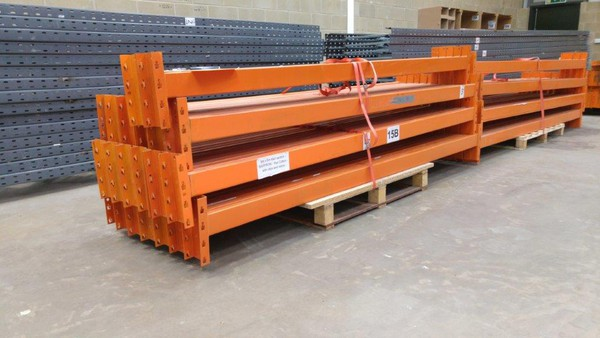 second hand pallet racking beams.