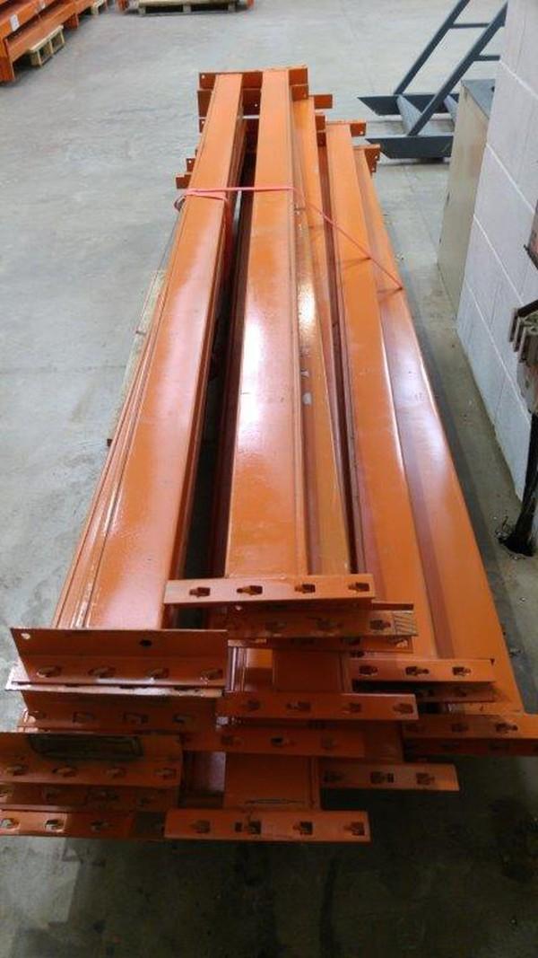 Used pallet racking beams
