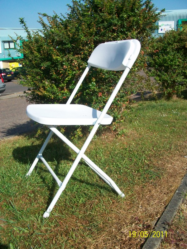 White Sam Folding Chairs