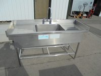 Double drainer deep catering sink
