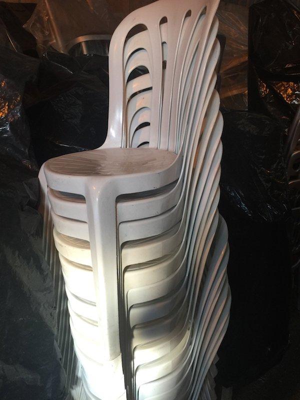 White Plastic Bistro Chairs