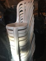 White Plastic Bistro Chairs