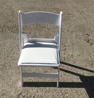 White resin folding chairs for sale