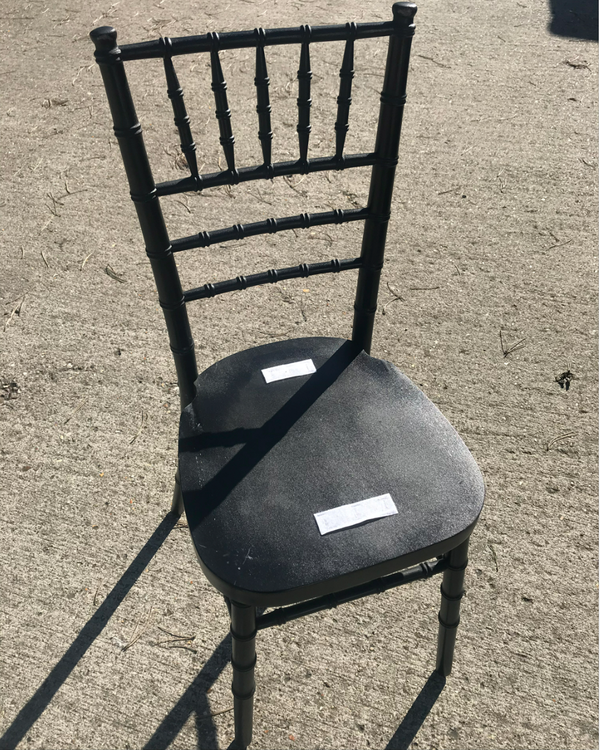 Used black chiavari chairs