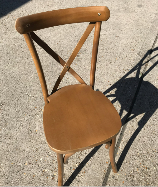 Secondhand golden oak chairs