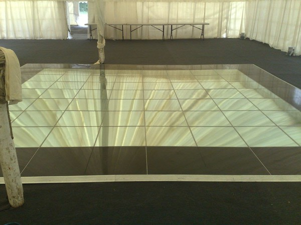 Used portable mirrored dancefloor
