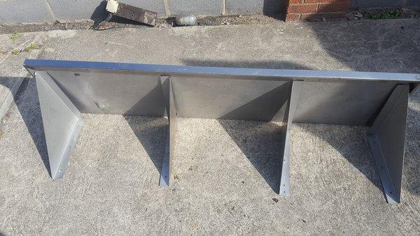 Used steel shelves