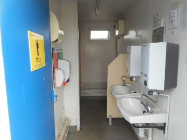 Anti-vandal toilet portable building