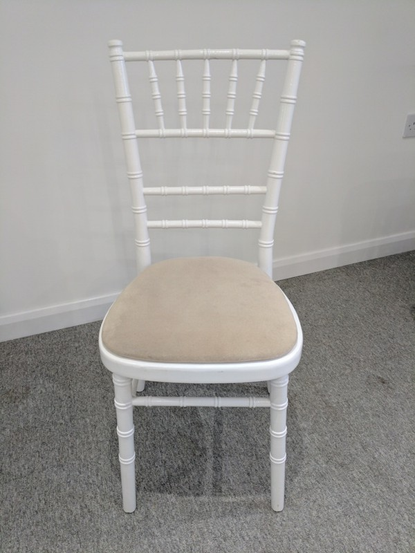 White Chivari Banqueting Chairs