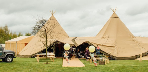 Secondhand Tan tipi marquee
