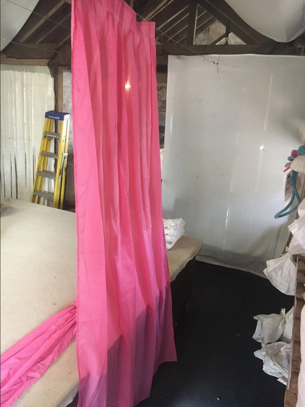 Pink wall overlays