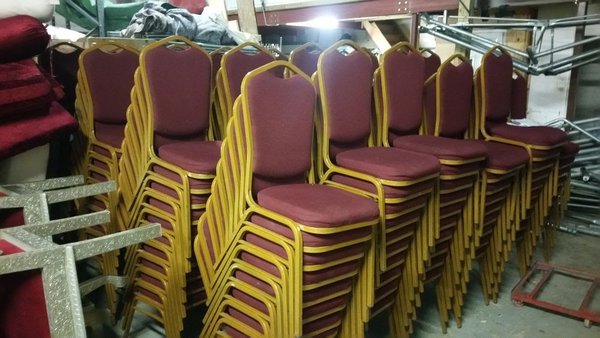 Red and Gold Banqueting Chairs