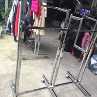 Used garment display rails