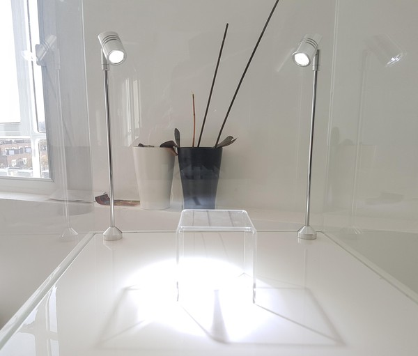 Gloss White Jewellery Lit Display Cabinets