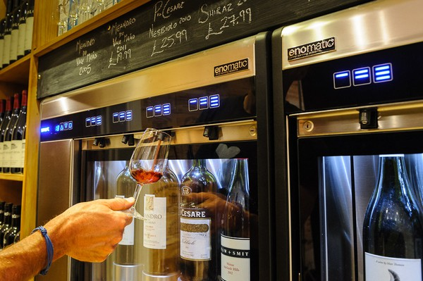 Secondhand smart wine dispenser