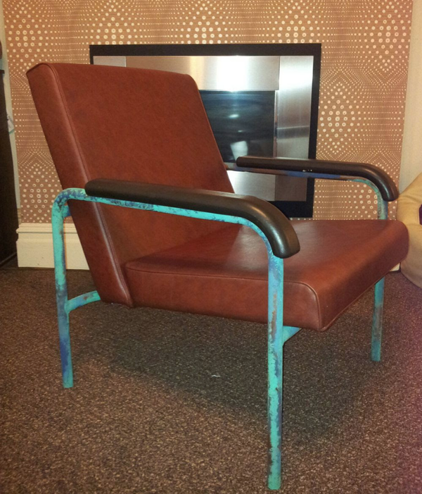 Retro Faux leather chair