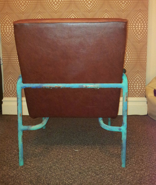 Secondhand tan chair