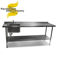 2.1m Stainless Steel Sink