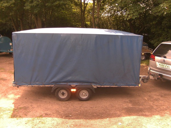 lightweight trailer twin wheel