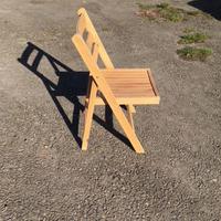 Used beech folding chairs