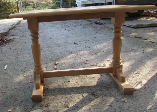 Oak style cafe table
