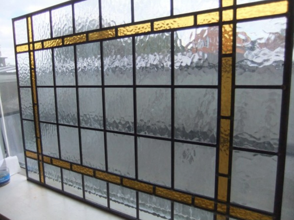 Used hand made stained glass panels